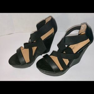 Chinese Laundry women's high heel wedges.  7.5